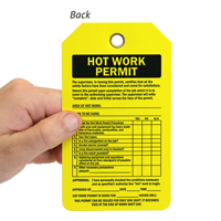 Hot Work Permit Tag Do Not Remove This Tag