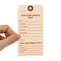 Non-Conforming Part Tags with Reinforced Fiber Patch