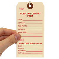 Single-Sided Manila Cardstock Tags with String