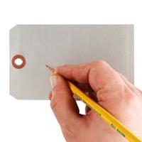 "3"" X 5"" Write On Blank Aluminum Markings Tag"