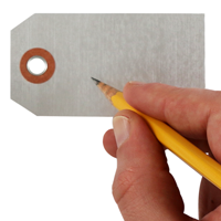 "1.625"" X 3.125"" Write On Blank Aluminum Markings Tag"