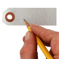 "1"" X 3.125"" Write On Blank Aluminum Markings Tag"