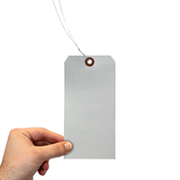 Debossable Aluminum Blank Write On Marking Tag