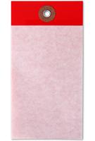 "1¾"" x 3¼"" Red Self-Laminating Tag"