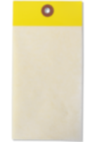 """1¾"""" x 3¼"""" Yellow Self-Laminating Tag"""
