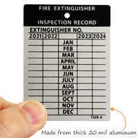 Fire Extinguisher Maintenance Tags