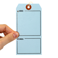 Blank - Blue Numbered Tags with Tear-Stub