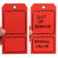 Blank - Red Numbered Tags with Tear-Stub