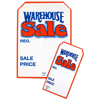 Warehouse Sale Tags With Slit
