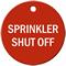 Sprinkler Shut Off Stock Engraved Valve Tag