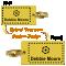 Custom 2-Sided Brass Key Chain, Upload Design