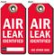 Air Leak Identified Tag
