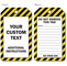 Custom Text And Instructions Plastic Tag