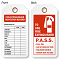 Fire Extinguisher Inspection Record Tag