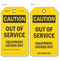 Out Of Service Equipment Locked Out Caution Tag