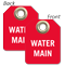 Water Main Mini Valve Tag